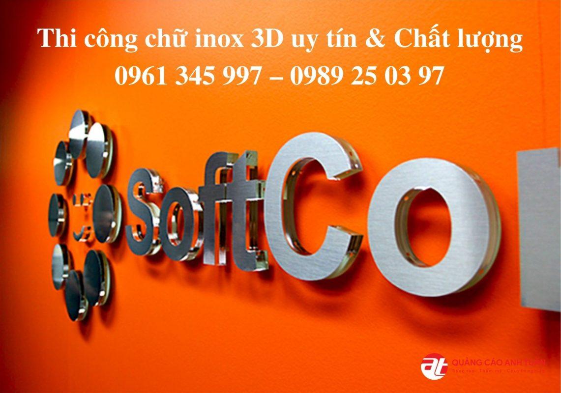 Chữ inox 3D